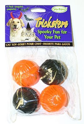 15841 Halloween Kitty Buzz Balls 4 Pack