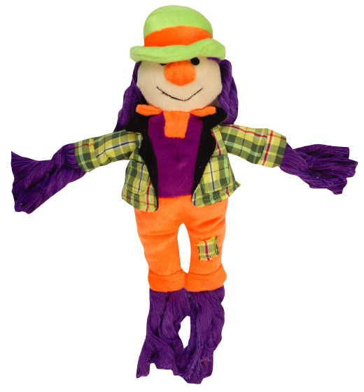 68789 HALLOWEEN PLUSH N'ROPE SCARECROW  / 9.5in / TAG