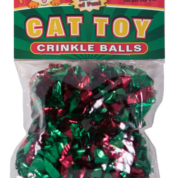 15222 Christmas Kitty Crinkle Balls