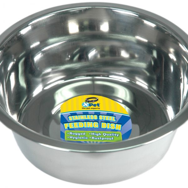 3185 3 Quart / 12 Cups High Lustre Stainless Steel Dish