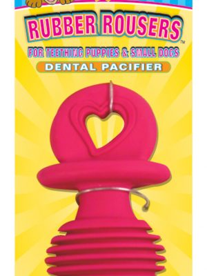5001 Tiny Tails Rubber Vanilla Dental Pacifier 3.75 Inch-Asst.Colors