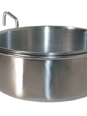 7673 10 Ounce Stainless Steel Coop Cup With Wire Holder