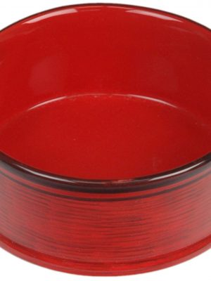 7933 Red 5 Inch Tuscan Dripped Glazed Dish