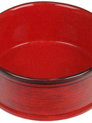 7937 Red 7 Inch Tuscan Dripped Glazed Dish