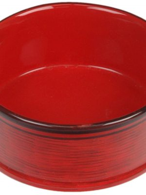 7941 Red 8.5 Inch Tuscan Dripped Glazed Dish