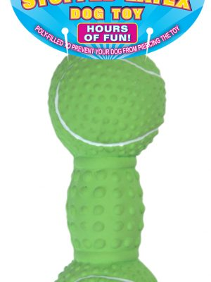 09784 Stuffed Latex Knobby Tennis Dumbbell 6 Inch