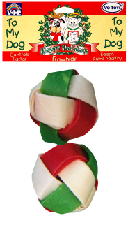 13233 2 Inch Christmas Braided Balls / 2 Pack