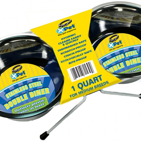 31522 1 Quart / 4 Cups High Lustre Stainless Steel Double Diner