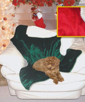 51611 Home For The Holidays Pet Throw 48 x 38 Inch