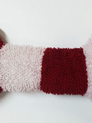63139 Christmas Scruffie Nubbie Red And White Striped Bone 15 Inch